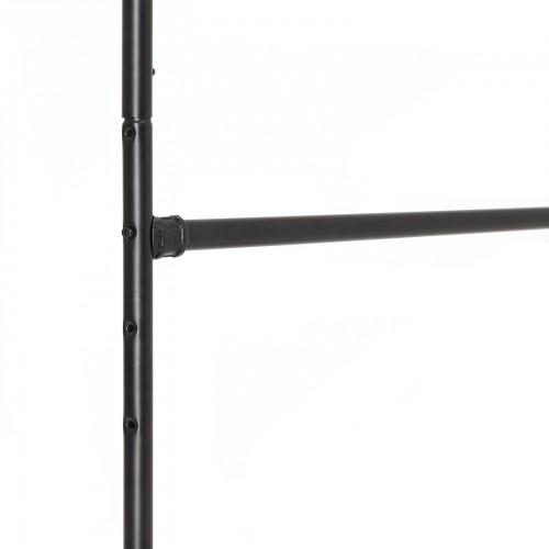 SONGMICS Perchero Industrial con Ruedas Soporte de Ropa Met/álico Doble Barra Colgante con 1 Estante para Zapatos Negro HSR62BK Expositor Comercial para Uso Pesado
