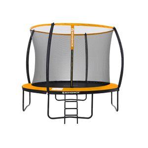 Trampolín Redondo de 305 cm Negro y Naranja STR102O01